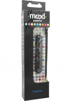 Mood Powerful 7 Function Small Bullet Waterproof 3.5 Inch Black