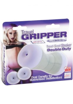 Travel Gripper Double Duty Anal Masturbator Purple