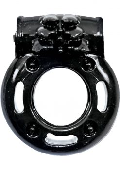 Macho Stallions Vibrating Cockring Black