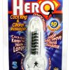 Hero Cockring and Clitoral Massager Waterproof Clear