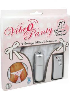 Vibro Panty Bikini Remote Control Waterproof White One Size