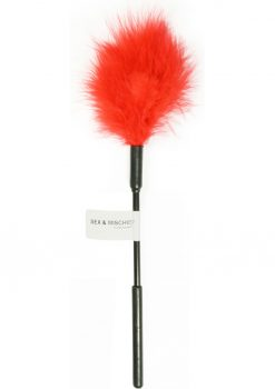Sex And Mischief Feather Tickler Red