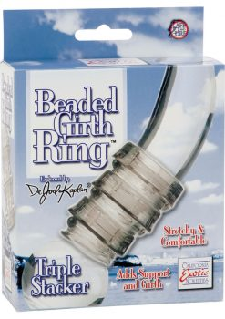 Dr Joel Kaplan Beaded Girth Ring Triple Stacker Cock Ring Smoke