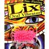 Lix Non Piercing Oral Vibrator Glow In Dark Pink