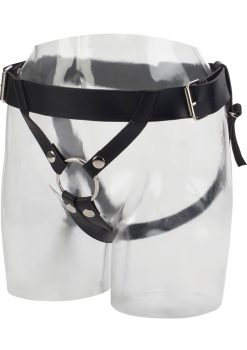 Universal Love Rider Premium Ring Harness Adjustable Strap On System Accessory PVC Black