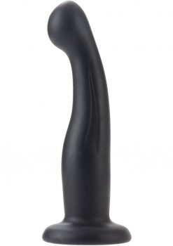Silicone Love Rider G Kiss Dong Black 6 Inches