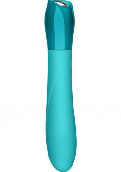 Key Ceres Original Silicone Vibrator Waterproof 5.25 Inch Robin Egg Blue