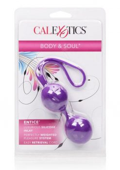 Body and Soul Entice Silicone Kegal Balls Purple
