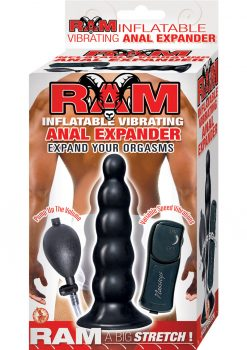 Ram Inflatable Vibrating Anal Expander 5.5 Inch Black