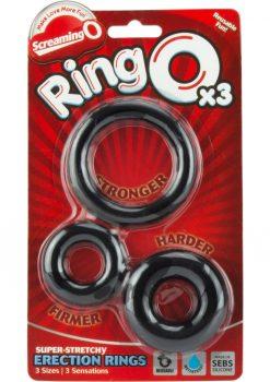 Ringo x3 3 Pack Cockrings 6 Packs Per Box Black
