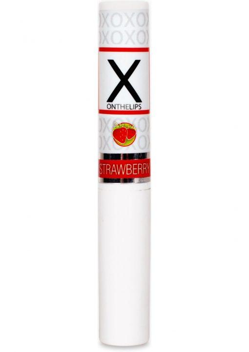 X On The Lips Buzzing Lip Balm With Pheromones Sizzling Strawberry Flavor .75oz