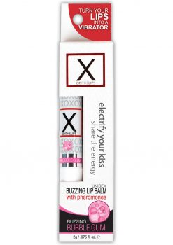 X On The Lips Buzzing Lip Balm With Pheromones Bubble Gum Flavor .75oz