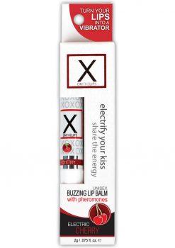 X On The Lips Buzzing Lip Balm With Pheromones Electric Cherry Flavor .75oz