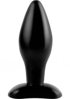 Anal Fantasy Collection Medium Silicone Plug Kit Black 4.25 Inch