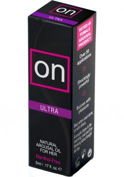 Sensuva On Ultra Natural Arousal Oil For Her Bottle .17oz