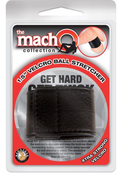 Macho Velcro Ball Stretcher Black 1.5 Inch