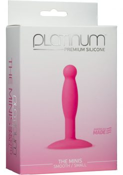 Platinum Premium Silicone The Minis Small Anal Plug Pink 3 Inch