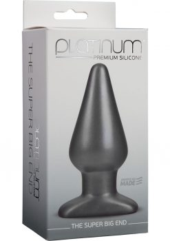 Platinum Premium Silicone The Super Big End Large Anal Butt Plug Charcoal