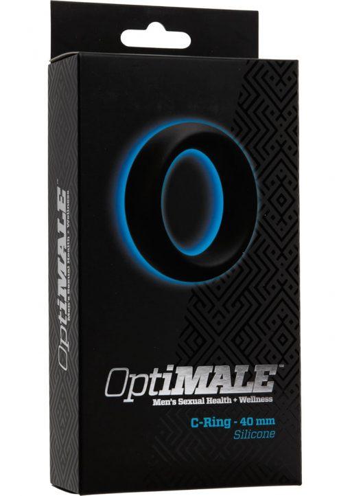 Optimale Silicone C-Ring Black 40 Millimeter