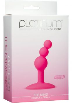 Platinum Premium Silicone The Minis Bubble Butt Plug Pink Small 2.7 Inch