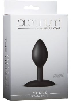 Platinum Premium Silicone The Minis Spade Butt Plug Black Small 3 Inch