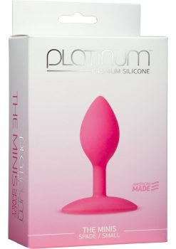 Platinum Premium Silicone The Minis Spade Butt Plug Pink Small 3 Inch