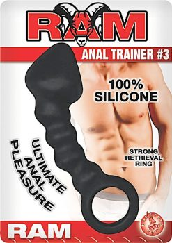 Ram Anal Trainer #3 Silicone Anal Probe Waterproof Black 5.5 Inch