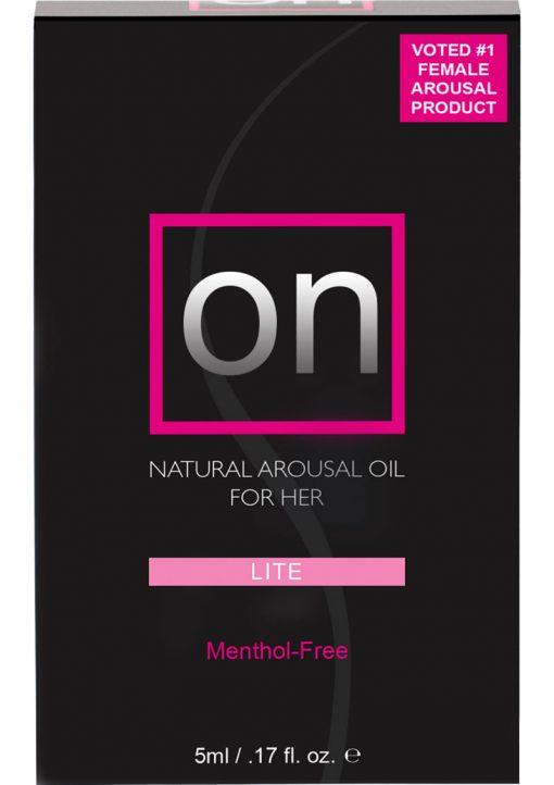Sensuva On Lite Natural Arousal Oil For Her Box .17oz