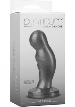 Platinum Premium Silicone The P-Plug Anal Plug Prostate Massager Charcoal