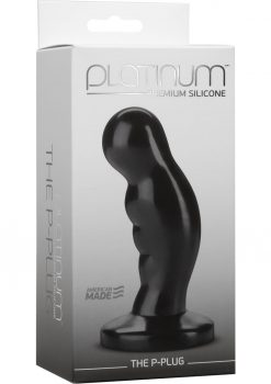 Platinum Premium Silicone The P-Plug Anal Plug Prostate Massager Black