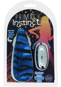 Primal Instinct Wired Remote Control Bullet Tiger Print Blue
