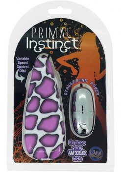 Primal Instinct Remote Wired Control Bullet Giraffe Print Purple