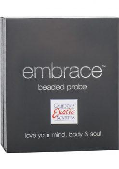 Embrace Beaded Silicone Anal Probe Waterproof Purple 3.75 Inch