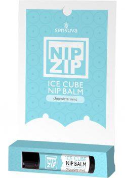 Sensuva Nip Zip Ice Cube Nip Balm Chocolate Mint Flavor