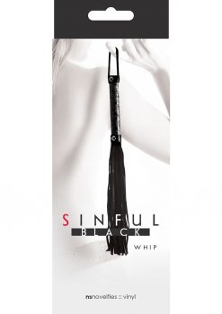 Sinful Whip Flogger Black