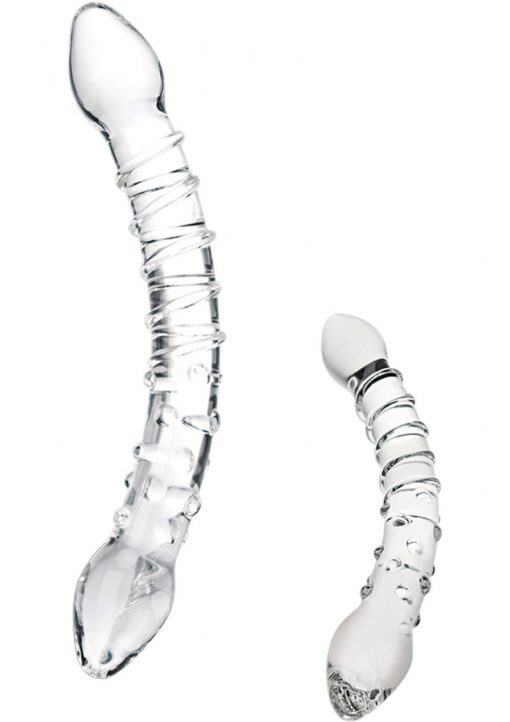 Glas Double Trouble Glass Dildo Clear