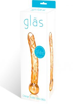 Glas Orange Tickler Glass Dildo