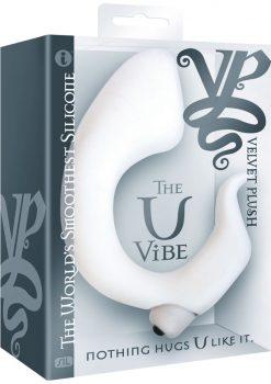 Velvet Plush The U Vibe Junior Silicone Vibrator Waterproof White