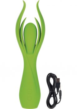 Lust L7 Silicone Rechargeable Massager Waterproof Green 8.5 Inch