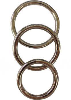 Metal O Ring 3 Pack Assorted Cockrings Metal