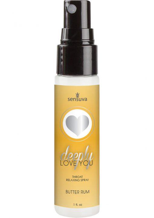 Sensuva Deeply Love You Throat Relaxing Spray Butter Rum Flavor 1oz