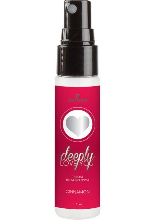 Sensuva Deeply Love You Throat Relaxing Spray Cinnamon Flavor 1oz
