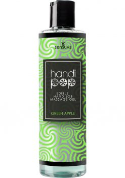Sensuva Handipop Edible Hand Job Massage Gel Green Apple Flavored Lubricant 4.2oz