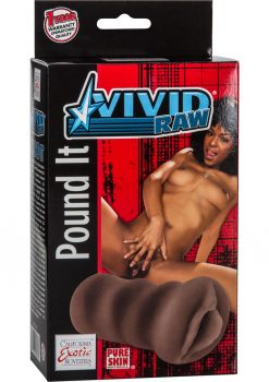 Vivid Raw Pound It Pussy Stroker Black 5.25 Inch