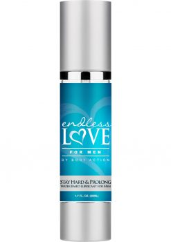 Endless Love For Men Stay Hard and Prolong Water Based Lubricant 1.7 Ounce