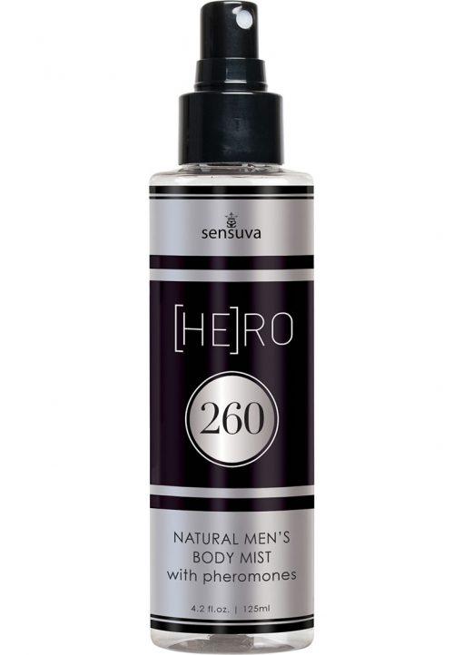 Sensuva Hero 260 Natural Men`s Body Mist With Pheromones 4.2oz