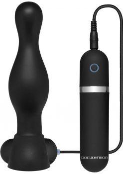 Platinum Premium Silicone The Delight Vibrating Anal Plug Waterproof Black 6.1 Inch