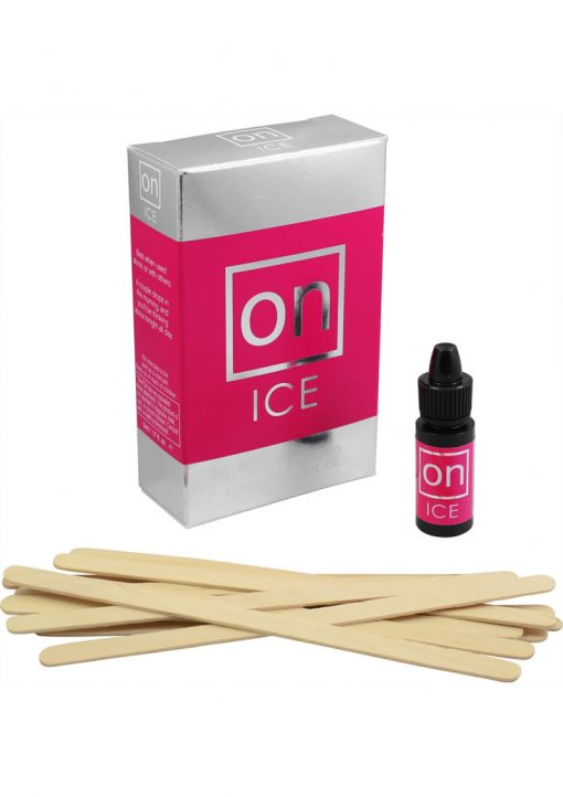 Sensuva On Ice Buzzing and Cooling Female Arousal Oil Refill Kit 5ml 12 Per Refill