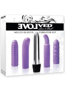 Evolved Multi Sleeve Vibrator Kit Purple
