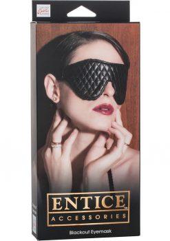 Entice Blackout Eyemask Black